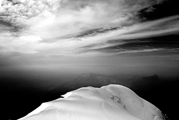 Glaciate mountain ridge, Mont Blanc Mountain Massif, Graian Alps, France