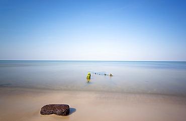 Flotsam on the Baltic sea beach, Ahrenshoop, Darss, Mecklenburg Vorpommern, Germany