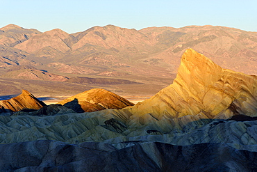 Zabriskie Point at sunrise in Death Valley National Park, California, USA, America