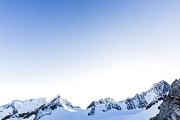 South East Ridge of Finsteraarhorn, Finsteraarrothorn, Grosses Wannenhorn, Kleines Wannenhorn, Wallis, Switzerland