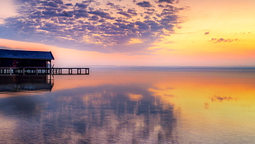 Sunrise on Lake Starnberg, Tutzing, Bavaria, Germany