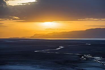 Sunset over Lake Eyasi, near Kisima Ngeda Tented Camp, Tanzania