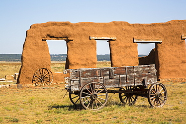 Ruins of the Transportation Corral, Fort Union National Monument, New Mexico, United States of America