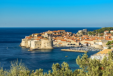 View of Fort Lovrjenac and the Old City of Dubrovnik, Dubrovnik, Dubrovnik-Neretva County, Croatia