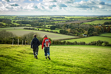 Walking on the North Downs Way, Southern England, England