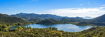 Panoramic view of Bacina Lakes, Dalmatia, Croatia