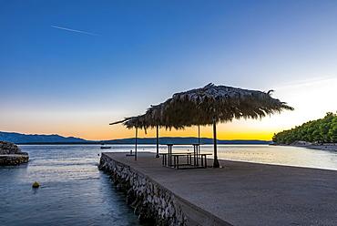 Makarska Riviera at dusk, Dalmatia, Croatia