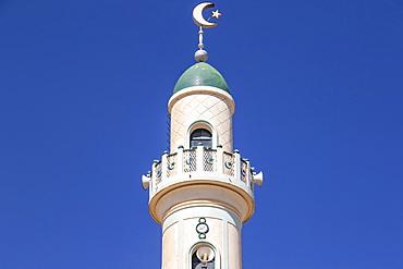 Minaret of the Great Mosque of Asmara, also known as Al Kulafah Al Rashidan, Asmara, Central Region, Eritrea