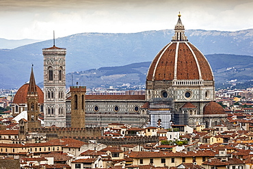 View of Florence, including Florence Cathedral, Florence, Italy
