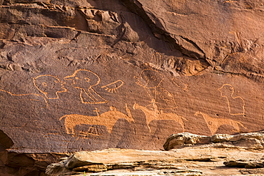 Sand Island Petroglyph Panel, Bears Ears National Monument, near Bluff, Utah, United States of America