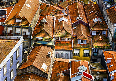 Rooftops of houses, Porto, Porto, Portugal