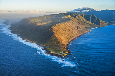 Aerial view of the southwestern tip of Oahu, Oahu, Hawaii, United States of America