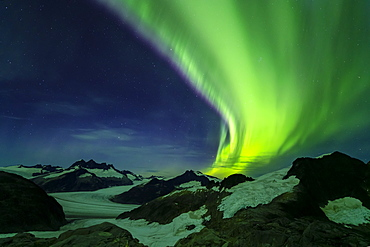 Northern Lights over Juneau Icefield, Tongass National Forest, Alaska, United States of America
