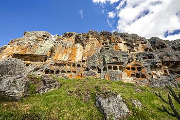 Ventanillas de Otuzco funerary complex, archaeological site, Cajamarca, Peru