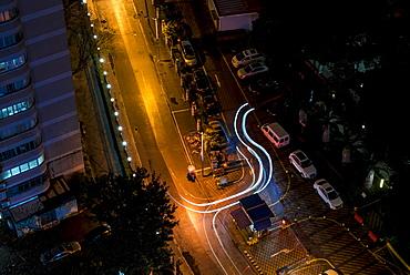 Urban landscape at night, Shanghai, China