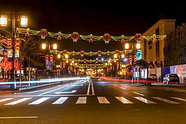 Chinese lanterns light decorations, Datong, China