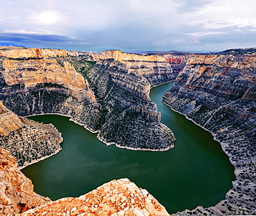 View of Bighorn Canyon from Devil Canyon Overlook, Bighorn Canyon National Recreation Area, Montana, United States of America