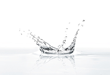 Water droplet splashing on a surface