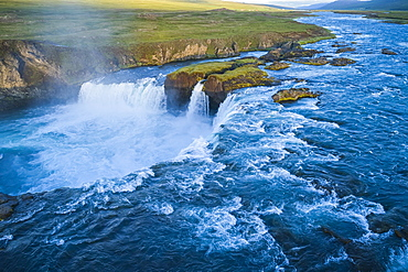 Godafoss, also known as 'Waterfalls of the gods', Northern Iceland, Iceland