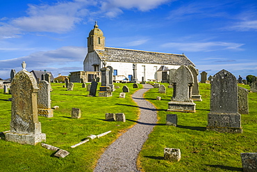 Tarbat Old Parish Church, Portmahomack and Commonwealth War Cemetery on site of old Pictish Monastery, Portmahomack, Scotland