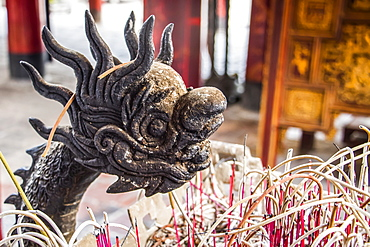 Incense urn at the Temple of Literature, Hanoi, Hanoi, Vietnam