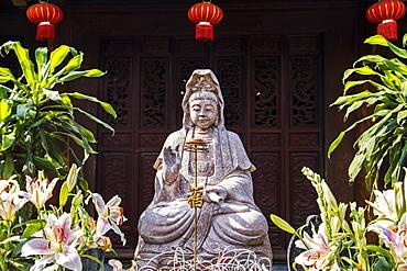 Statue of the Goddess of Mercy by the Mot Cot Temple, Hanoi, Hanoi, Vietnam