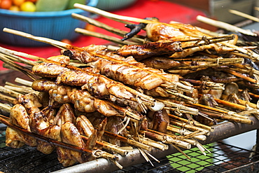 Chicken satay sticks, Kuang Si, Luang Prabang, Laos