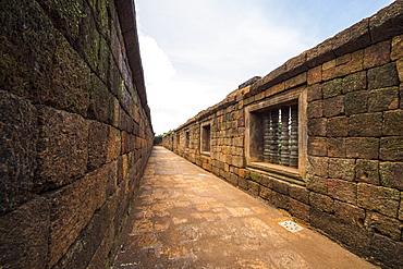 Walls and corridor in the South Quadrangle, Vat Phou Temple Complex, Champasak, Laos