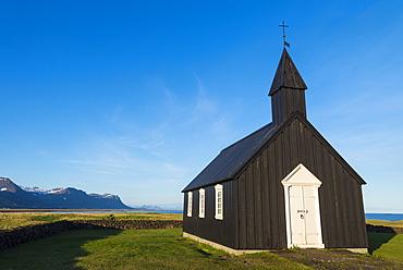 Small church on the Snaefellsnes peninsula, Budir, Iceland