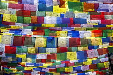 Colourful Buddhist prayer flags, Kathmandu, Nepal