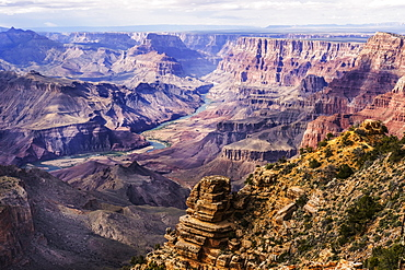 Colorado River winding through Grand Canyon National Park, Arizona, United States of America