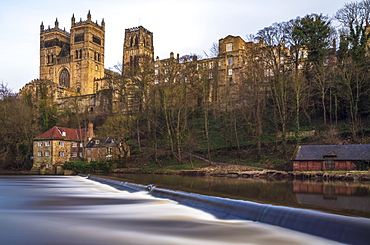 Durham Cathedral on the Banks of the River Wear in the North East of England, Durham, Durham County, England