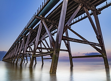 The disused Steetley Pier was built to serve the former Hartlepool Magnesia Works which has now been demolished, Hartlepool, County Durham, England