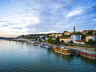 View of Belgrade from the Sava River, Belgrade, Vojvodina, Serbia