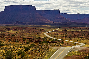 A road running through Castle Valley, Utah, United States of America