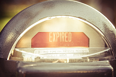 Expired parking meter, Long Beach, California, United States of America