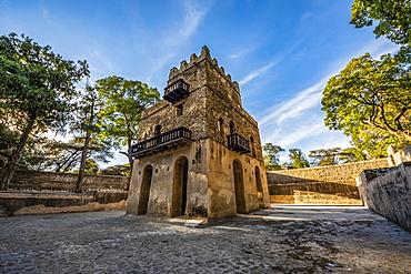 Three-storied bathing palace at Fasilides Bath, Gondar, Amhara Region, Ethiopia