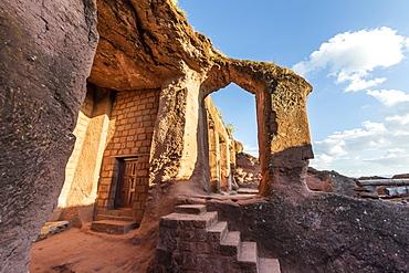 Biete Qeddus Mercoreus (House of Mark the Evangelist) Ethiopian Orthodox rock-cut church in the Southern Group of the Rock-Hewn Churches, Lalibela, Amhara Region, Ethiopia