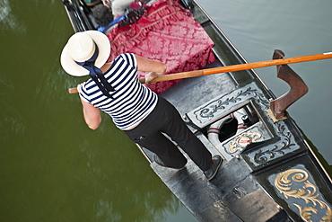 Gondolier on a gondola