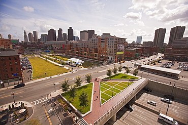 Buildings in a city, Rose Kennedy Greenway, Boston, Suffolk County, Massachusetts, USA