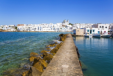 Breakwater, Old Port of Naoussa; Naoussa, Paros Island, Cyclades, Greece