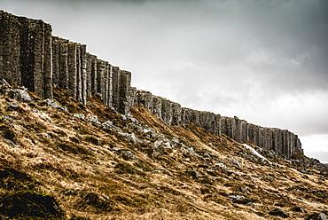 Gerduberg basalt columns in Snaefellsnes; Iceland