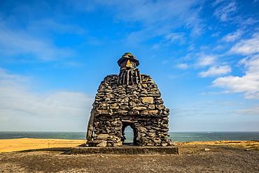 Huge statue of Barour Snaefellsas by Ragnar Kjartansson; Arnarstapi, Iceland