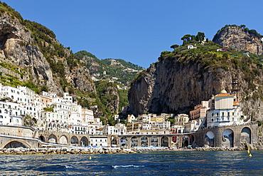 Waterfront of Amalfi; Amalfi, Salerno, Italy