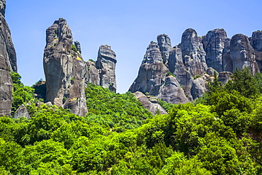 Stone Forest, Meteora, rock formations in central Greece; Thessaly, Greece