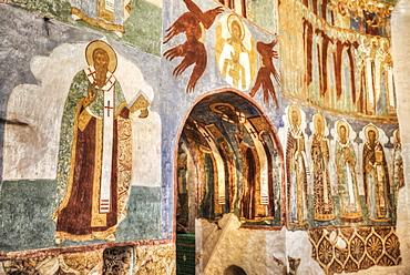 Fresco, Transfiguration Cathedral, Monastery of St Euthymius; Suzdal, Vladimir Oblast, Russia