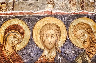 Interior Fresco, Cathedral of the Nativity (1222), Kremlin; Suzdal, Vladimir Oblast,  Russia