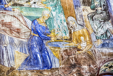 Fresco, Church of the Nativity of the Virgin, 1158, North of Vladimir; Russia