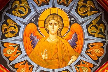 Ceiling Fresco, Monastery of Varlaam, Meteora; Thessaly, Greece