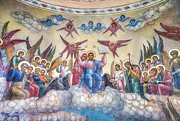 Fresco, The Resurrection Church on the Debra; Kostroma, Kostroma Oblast, Russia